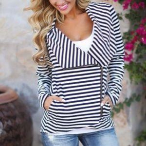 Black & White Striped Jacket